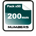 20cm (200mm) Race Numbers - 50 pack